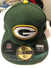 Youth Fitted New Era Green Bay Packes Hat - Size 6 3/8