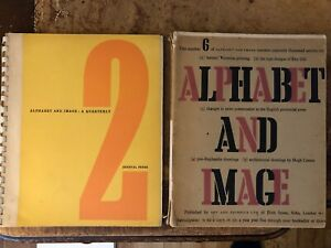 2 x Alphabet & Image - Illustrated - Eric Gill and Edward Bawden Interest