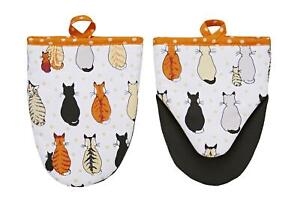 Ulster Weavers Kitchen Set Cats In Waiting Apron, Towel, Oven Gloves & Pot Mat