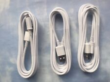 3 Pack WHITE USB to Micro USB Sync Cable -6 foot Cord Sony LG Samsung & Android