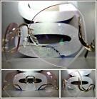 OVERSIZED VINTAGE RETRO Style SUN GLASSES Upside Down Gold Frame Pink Clear Lens