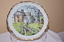 COLLECTOR PLATE - SPRING RAINS BY FRANK M. HAMILTON - GOLD TRIM, MADE IN JAPAN