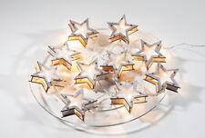 """Batteriebetriebene LED Lichterkette """"Starwood"""" mit 10 Holzsternen - Sterne - NEU"""