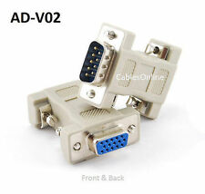 DB9 Male to HD15 VGA Female Multisync Video Adapter, CablesOnline AD-V02