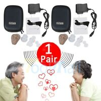 2Pack Rechargeable Digital Mini In Ear Hearing Aid Adjustable Tone Amplifier