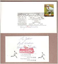 DECEASED BB PITCHER VIRGIL TRUCKS (2 NO-HITTERS 1952) SIGNED BB FDC & 3x5 CARD