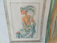 Counted Cross Stitch Kit Art Deco Lady 14 Count Aida New Vervaco