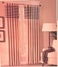 "Madison Park Brown & Beige Striped 1 Pair of Window Panels Curtains 84"" x 84"""