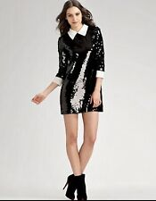 SONIA RYKIEL Sold Out SEQUIN GLOSS DRESS BNWT RRP £445 Christmas Party Size L