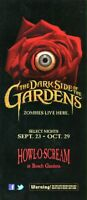 2011 Howl-O-Scream Busch Gardens Tampa Bay Fold Out Handbill - Zombies Live Here