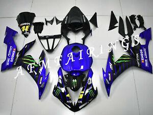 Blue Black ABS Injection Mold Bodywork Fairing Kit Panel for YZF R1 2004-2006