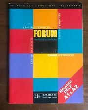Hachette Cahier D'exercices FORUM Methode de Francais 1 Unused Workbook