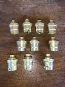 LOT 10 ANCIENNE DOUILLE B22 AVEC BAGUES NEUVE LAMPE VINTAGE