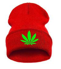 Winter Beanie Hat Marijuana Weed 420 Leaf Ankle Ganja Cannabis Casual Hats LA
