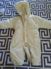 Weebok by Reebok Baby Fleece Snow-gear Size 24 beige Reversible Snowsuit vintage