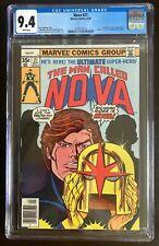 Nova 21 CGC 9.4 White Pages New Case Marvel Sep 1978