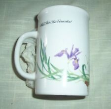 Potpourri Press Coffee Tea Mug  Cup WILD IRIS 1991