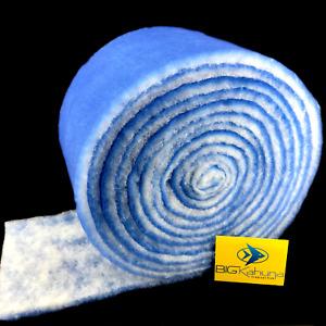 "30-FT ROLL BLUE BONDED AQUARIUM FILTER MEDIA PAD 12"" X 30'  FILTER FIBER FLOSS"