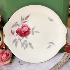 Pretty Vintage Royal Albert China Cake Plate / Bread & Butter Charmaine Roses.