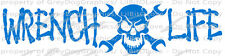 WRENCH LIFE SKULL VINYL DECAL AUTO MECHANIC GREASE MONKEY STICKER CAR WINDOW