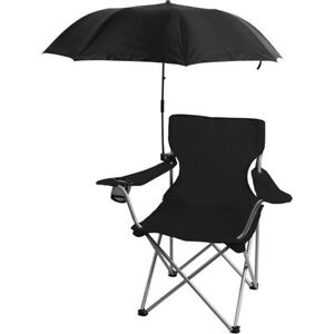 OZARK TRAIL Chair Umbrella With Universal Clamp, BLACK UPF 50, Clips on Chair