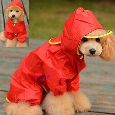 Pet Rain coat For Dog Puppy Waterproof Jacket Rainwear Hooded Clothes