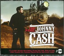 THE REBEL JOHNNY CASH - 3 CD BOX SET - RING OF FIRE, BOY NAMED SUE & MORE
