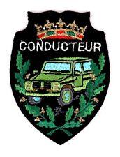 Ecusson brodé militaire ♦ (patch/crest embroidered) ♦ Conducteur VL Mehari