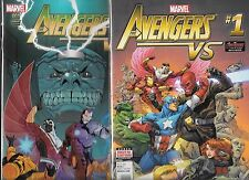 THE AVENGERS VS. #1 SET OF BOTH REGULAR & VARIANT COVERS (NM-)