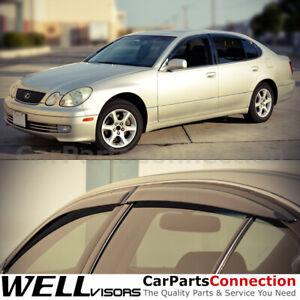 WellVisors Window Side Visor 98-05 For Lexus GS300 GS400 GS430 Side Deflectors