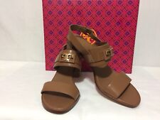 b98db25750dd NIB NEW TORY BURCH GIGI 65MM TWO BAND SANDAL CALF LEATHER HEELS SHOES 37490  9.5