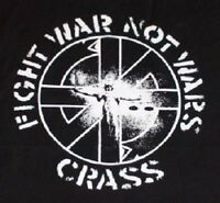 CRASS Fight War Not Wars big back patch anarcho punk conflict
