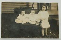RPPC Anchor Illinois Andreas & Ida Hahn Children Twins c1908 Postcard M12