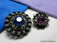 21cb7fce53c 5352 – Two Pierced and Open Work Filigree and Jewel Antique Buttons