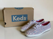 NEW! KEDS CHAMPION PASTEL ANIMAL GRAY PINK CASUAL SHOES SNEAKERS 7 37 SALE