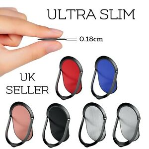 Phone Ring Holder Finger Grip 360° Rotate Magnetic Stand Mount Ultra Slim UK Car
