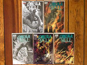 Godzilla in Hell 3rd Print #1 B&W Sketch, 2nd Print #2, SUB Variant 3 4 5 NEW NM