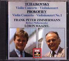 Frank Peter Zimmermann: Tchaikovsky Prokofiev Violin Concerto Lorin Maazel CD