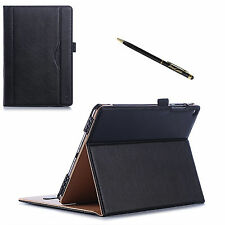 ASUS ZenPad 3S 10 Leather Case 9.7 Inch Tablet Stand Slim Folio Cover Stylus Pen