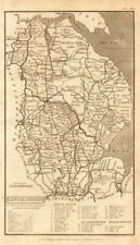 Antique county map of LINCOLNSHIRE by Henry Cooper for Benjamin Capper 1808