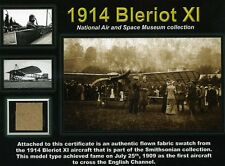 Bleriot XI - Genuine Piece of the Original Fabric on an Impressive Certificate