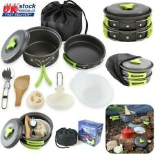 11Pcs/Set Portable Camping Cookware Kit Outdoor Picnic Hiking Cooking Equipment
