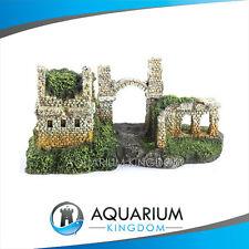 #18629 Kazoo Castle Ruin with Moss Medium Aquarium Ornament Decoration Tank
