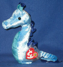 TY TRIDENT the SEAHORSE BEANIE BABY - MINT with MINT TAGS