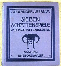 Scherenschnitte - Schattenspiele - von Alexander von Bernus, München 1910