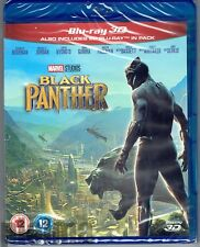 BLACK PANTHER Brand New 3D (and 2D) BLU-RAY Movie 2018 Marvel MCU Region-Free