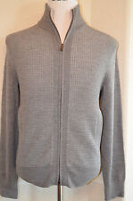 Banana Republic - Man's SMALL Grey Merino Blend Zip Cardigan Sweater $89.50 (C8)
