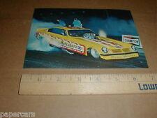 vtg Revell drag racing Pisano & Matsubara Chevy Vega Funny Car postcard handout