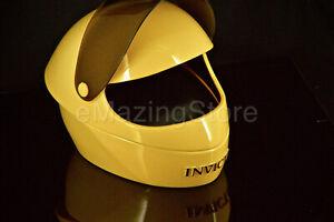 Invicta Yellow Helmet Watch Display Black Leather Interior Collector Box 1- Slot