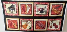 "1 Pretty ""Sounds of Music"" Cotton Fabric Quilting/Wallhanging Panel"